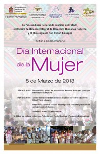 Programa 8 de marzo en San Pedro Amuzgos
